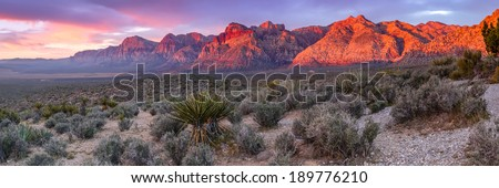 Panorama of Red Rock Canyon Las Vegas Nevada