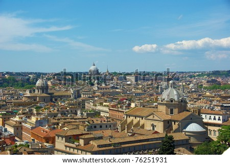 panorama of Rome (Italy)