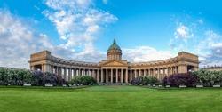 Panorama Of Saint Petersburg. Russia. Kazan Cathedral in summer. Cathedrals Of St. Petersburg. Religion. Orthodoxy. Architecture Of St. Petersburg.