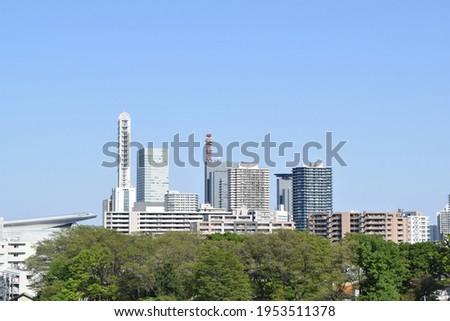 Panorama of Saitama New Urban Center, Saitama Prefecture, Japan ストックフォト ©