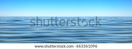 Panorama of sea waves against the blue sky #663361096