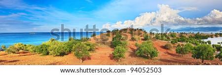 Panorama of Seraya island. Komodo national park