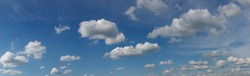 panorama of  sky with cumulus clouds