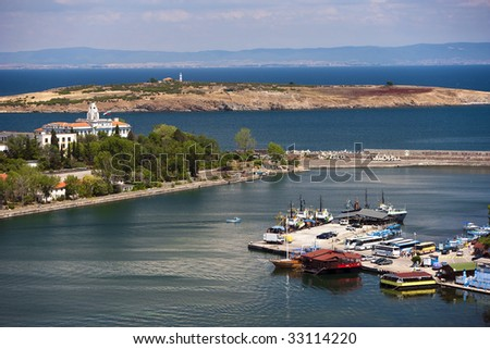 Panorama of Sozopol city, Bulgaria