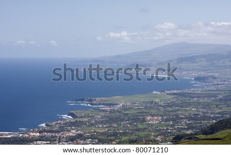 Panorama of St. Miguel Island - Azores/Portugal