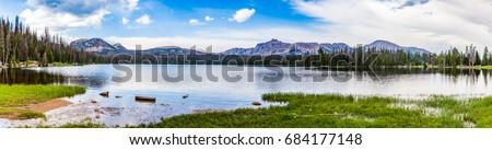 Panorama of the beautiful Mirror lake #684177148