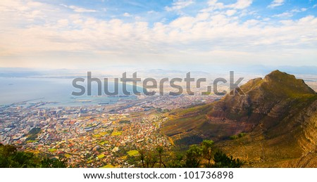 Panorama of the city (Cape Town, South Africa)