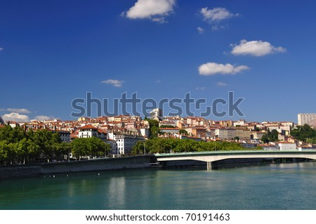 Panorama of the city of Lyon
