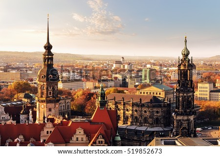 panorama of the city skyline at ...