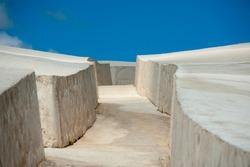 panorama of the cretto di burri in sicily