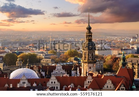 panorama of the dresden  city...
