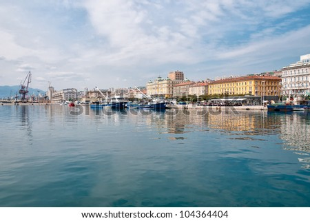 panorama of the harbor of Riejeka in Croatia