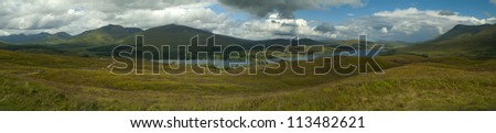 Panorama of the Highlands of Scotland