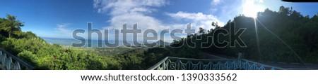 panorama of the island of Mauritius