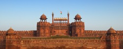 Panorama of the Red Fort in Delhi