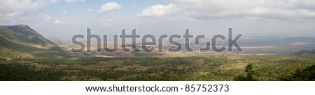 Panorama of the Rift Valley, Kenya, Africa