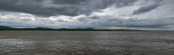 Panorama of the River on a Cloudy Day | Irrawaddy River, Old Bagan, Myanmar