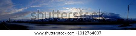 Panorama Of The Sunset #1012764007
