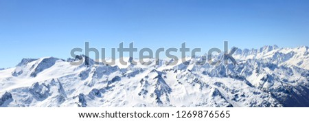 Panorama of Titlis - the Alps Mountain peak in Switzerland (large stitched file) #1269876565