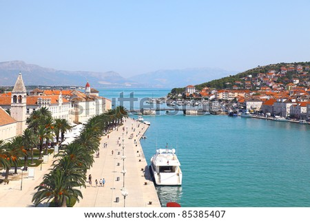 Panorama of Trogir in Croatia