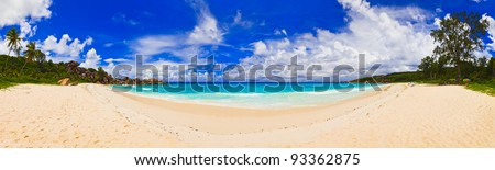 Panorama of tropical beach - nature background