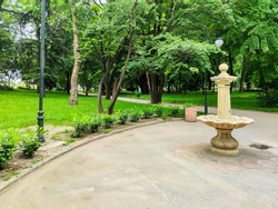 Panorama of Tsar Simeon Garden in City of Plovdiv, Bulgaria