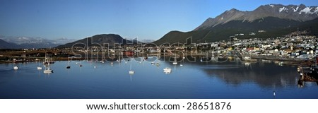 Panorama of Ushuaia - Southern most city in the world