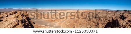 Panorama of Vale de la Muerte #1125330371
