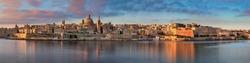 Panorama of Valletta Skyline in the Morning, Malta