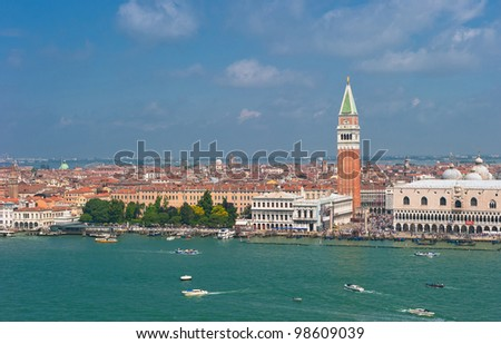 Panorama of Venice, Italy - stock photo