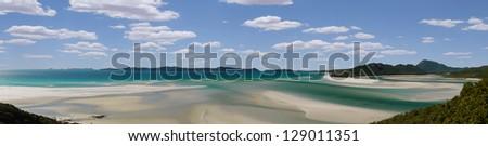 panorama of Whitehaven Beach, Queensland/Australia