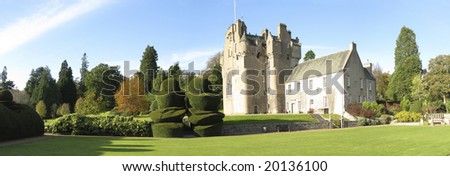 Panorama photo of Crathes Castle, Scotland