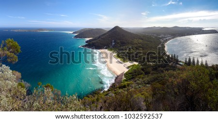 Panorama photo of Shoal Bay, Nelson Bay, Australia