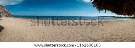 panorama picture from an empty beach