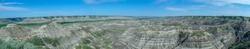 Panorama picture from the mountains in calgary in canda