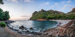 Panorama picture of an amazing bay at late afternoon, shot with wideangle lens. Big Resolution and Beautiful Colors.