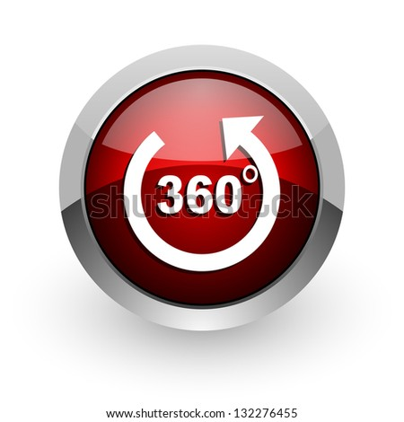 panorama red circle web glossy icon