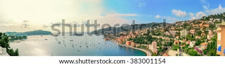 Panorama, Saint Jean Cap Ferrat, France, C�´te d'Azur,  #383001154