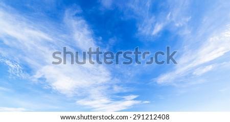 Panorama shot Cloud with blue sky
