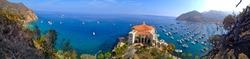 Panorama Shot of Santa Catalina Island Avalon California