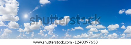 Panorama sky and cloud background. Panoramic composition in high resolution. #1240397638