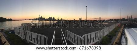 Panorama sunset  #671678398