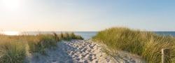 Panorama Sunset at the Baltic Sea Beach