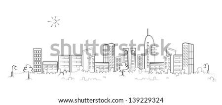 panorama town   sketch...