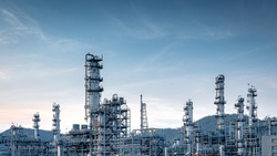Panorama view at the Industry oil and gas refinery plant ,Located in a large petrochemical industrial area, Thailand