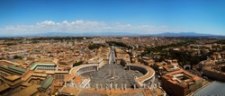 Panorama view from the top of St. Peter's Basilica, Vatican City