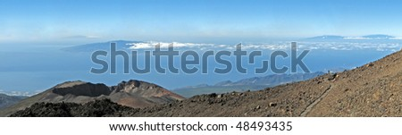 Panorama view from the volceno Teide (Tenerife, Canary Islands)