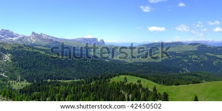 panorama view in Italien Dolomites