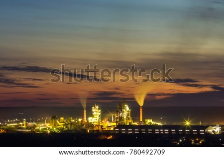 Panoramas view of Petroleum plant Images and Stock Photos