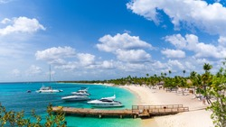 Panorama View of Harbor at Catalina Island in Dominican Republic